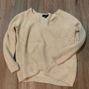 Forever 21 tan knit sweater